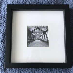 9 x 9 matted black frame